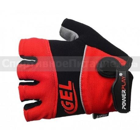Велоперчатки PowerPlay 1058 красные