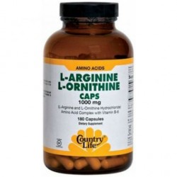 L-ARGININE, L-ORNITHINE 180 капсул