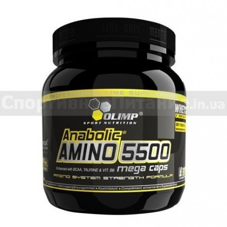Anabolic Amino 5500 mega caps 180 капс
